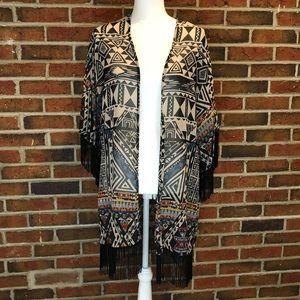 Angie Long Kimono Style Duster Size Large
